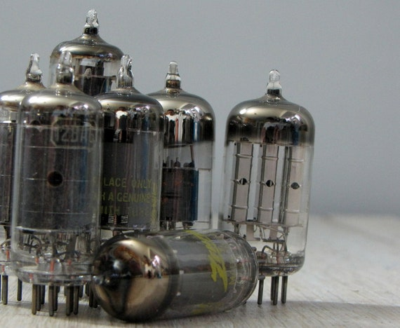 seven scrap vintage radio tubes