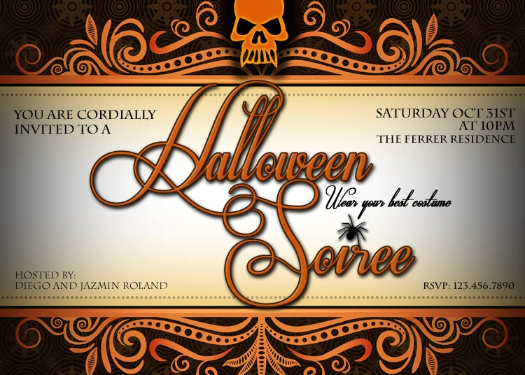 Halloween Invitation - Adult Halloween Invitation - Halloween Party ...