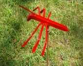 RED ANT picnic crasher fire ant garden stick in bug from enochs garden party raider 30 inches tall bright red bug