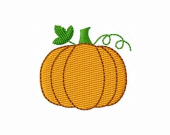 Instant Download Halloween Mini Pumpkin Fall Stitches Machine Embroidery Design NO:1192