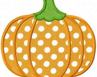 Instant Download Halloween Pumpkin Applique Machine Embroidery Design NO:1197