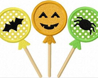 Halloween Lollipops  Applique Machine Embroidery Design NO:1218