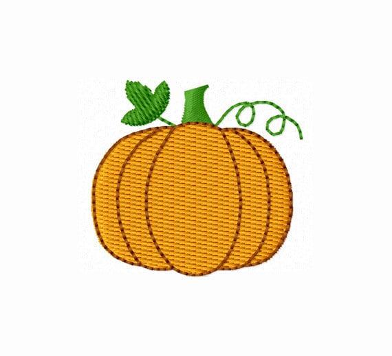 Instant Download Halloween Mini Pumpkin Fall Stitches Machine Embroidery Design NO:1192