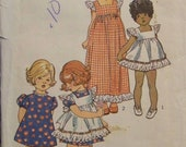Vintage 1973 Simplicity 5534 Pattern for  Child's Pinafore in Two Lengths and Dress in Size 2