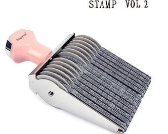 Alphabet Number Rolling Decoration Stamp Vol.2