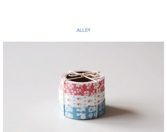 Roll Fabric Reform Tape Decoration for Diary Photo Note etc - ALLEY