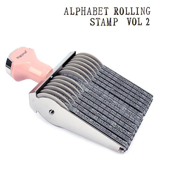 alphabet number rolling decoration stamp vol 2 by glassnam