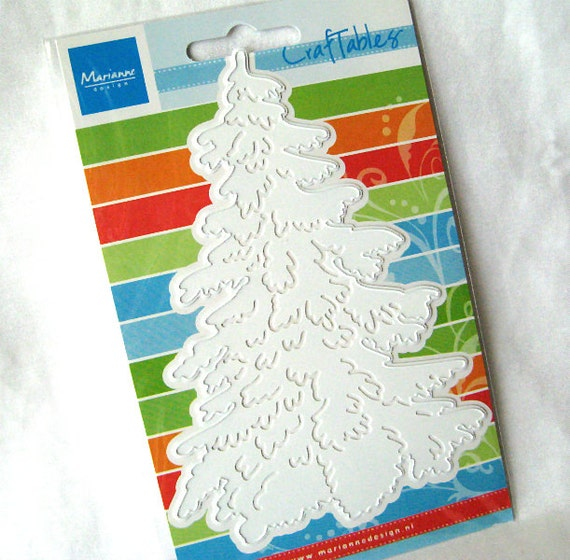 Christmas Tree Die - Paper Cutting - Large - Marianne Creatables - CR1224 - for Scrapbooking