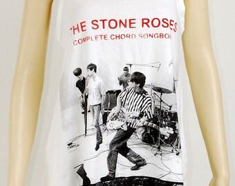 The Stone Roses UK Band Indie Pop Rock Music Art Women Singlet T-shirt Dress Sz S M