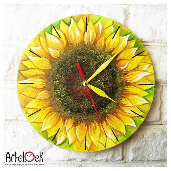 The Sunflower Wall Clock Home Decor