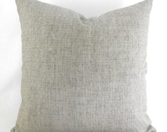 Indoor Outdoor Pillow Covers ANY SIZE Decorative Pillows Solid Grey Pillow Robert Allen Outdoor Weavescene Gray