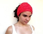Coral Color Lace Headband, Scarf