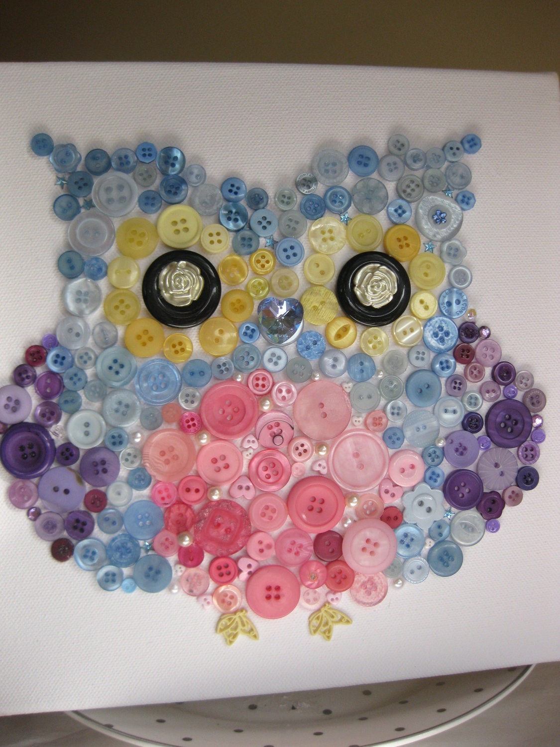 Owl Art Made with Buttons - Bing images
