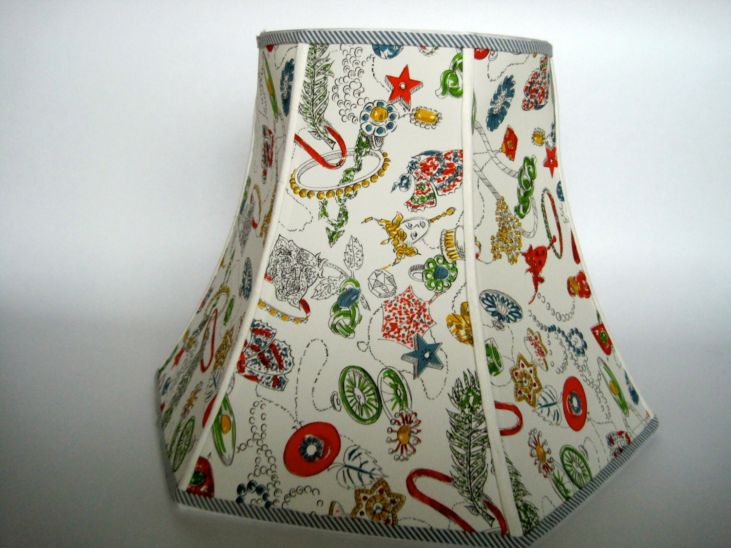 vintage fabric lamp shade large lamp shades vintage by. Black Bedroom Furniture Sets. Home Design Ideas