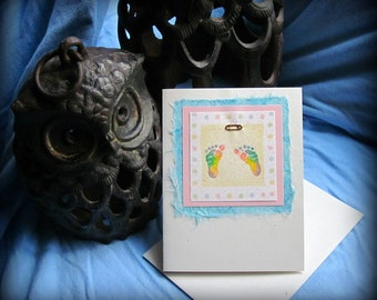 Baby (blue) - Greeting Card