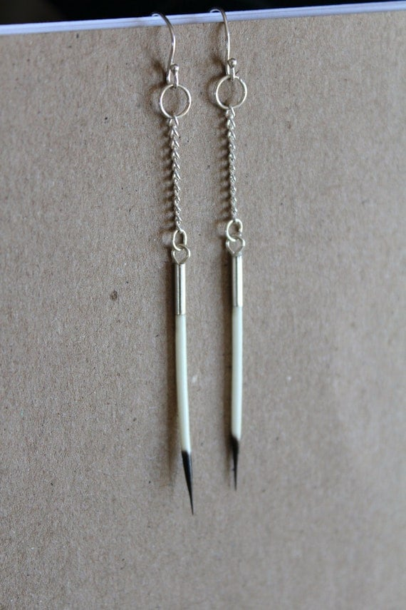 Small Porcupine Quill Earrings - Cute