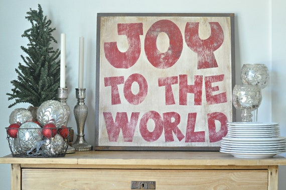 Joy to the World (red)Sign