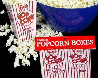 24 Retro Popcorn Boxes - Movie Theater style