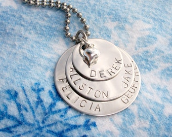 Stacked Name Necklace, Christmas, Gift