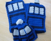 Tardis Hat and Scarf Set