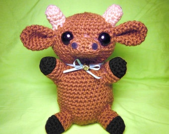 Cute Crochet Amigurumi Cow