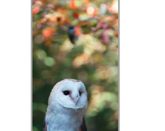 iPhone 5 case White Owl Fall Raptor Art Print Photo iPhone Cover