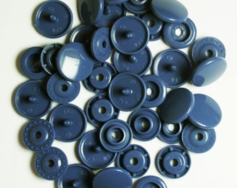 100 Sets Denim Blue (B-32) KAM Plastic Resin Snaps For Crafts, Baby, Clothes, Bibs, Diapers and Scarves