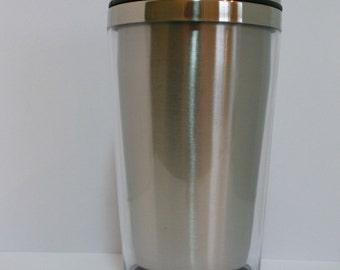 Insulated Photo Insertable Hot / Cold Travel Mug Tumbler 16oz