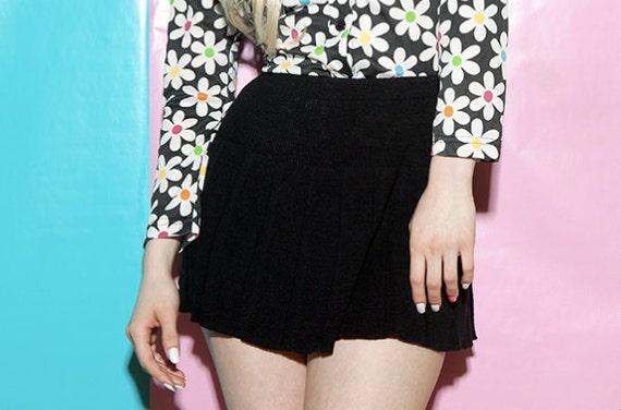 90s schoolgirl knit mini skirt / Clueless meets The Craft / xs