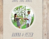 Canvas Doodle Save the Date (Printable)