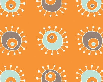 Birch Organic Fabrics Scamper Collection One Yard in Sunburst Orange