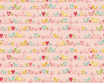 One Yard of Sweetest Bird in Pink from The Sweetest Thing by Zoe Pearn