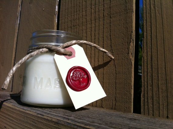 Sale - SPICED WASSAIL - Soy Candle - 8 oz Mason Jar - Hand Poured
