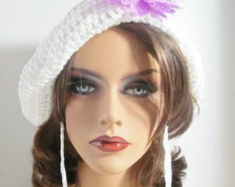 Gogo Crochet Flap Hat