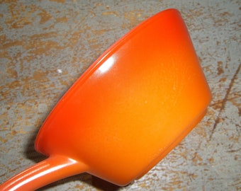 Vintage Bowl, Fire King, Anchor Hocking, Soup Bowl, Orange, Handle, Fire King Bowl