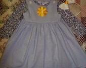 "Flower Girl"" 2T sz 3pc Baby LuLu Upcycled Boutique OOAK Dress Set FREE SHIP"
