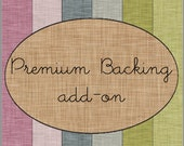Premium Backing Add-On for Custom Bunting Quilt