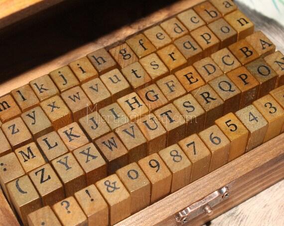On Sale - Alphabet Stamps Set(70 pcs) plus  Ink pad Set(15pcs)