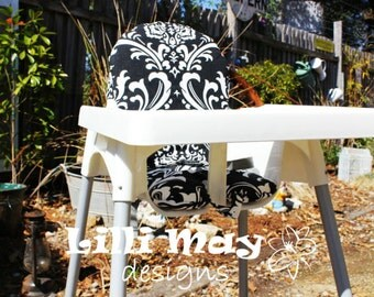 Plastic Ikea Chair Cover // Antilop Padded High Chair Cover// Cushion // YOU PICK FABRIC - Cotton // fit Target Fizz, Aldi Cube Chair
