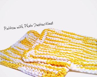Kate's Tunisian Afghan Stitch Washcloth Pattern Instant Download