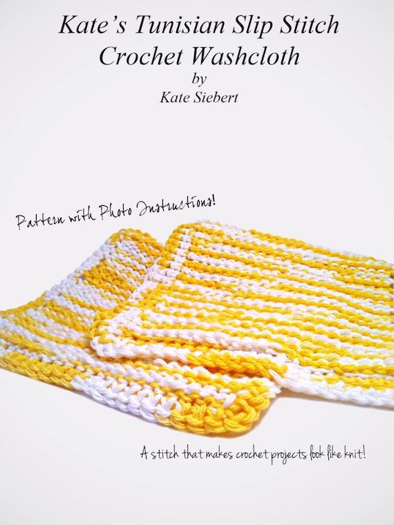 Kates Tunisian Afghan Stitch Washcloth Pattern Instant