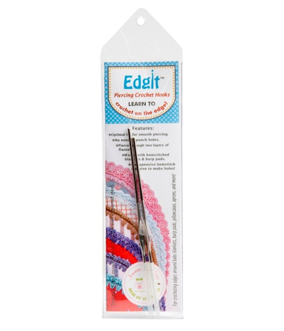 Crocheting Needles Beginners : Edgit Piercing Crochet Hooks Set For Crocheting on the Edge
