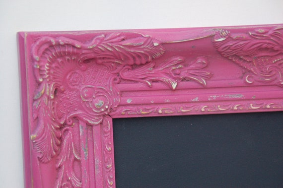 chalkboard customize your color ornate  large frame vintage shabby chic regency
