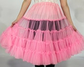 Pinup-Perfect Fluffy Candy Pink Square Dancing/Swing Dancing Crinoline/Petticoat