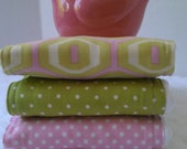 RESERVED Burp Cloth Set (3) Amy Butler Midwest Modern and Polka Dots