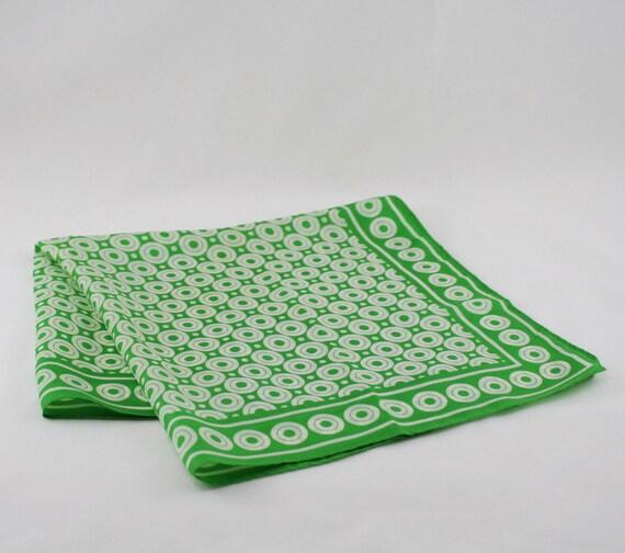 Vintage 60s Green Mod Scarf