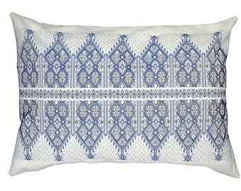 Traditional Cretan Embroidered Textile - Blue