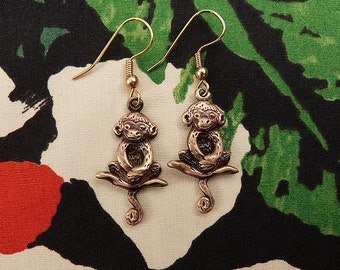 Bronze Sitting Monkey Earrings