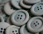 5 x 22mm Aqua Eco-Buttons made from recycled materials