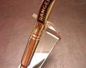 7.62 mm single fired NATO brass casing bullet pen, US Army Ranger clip